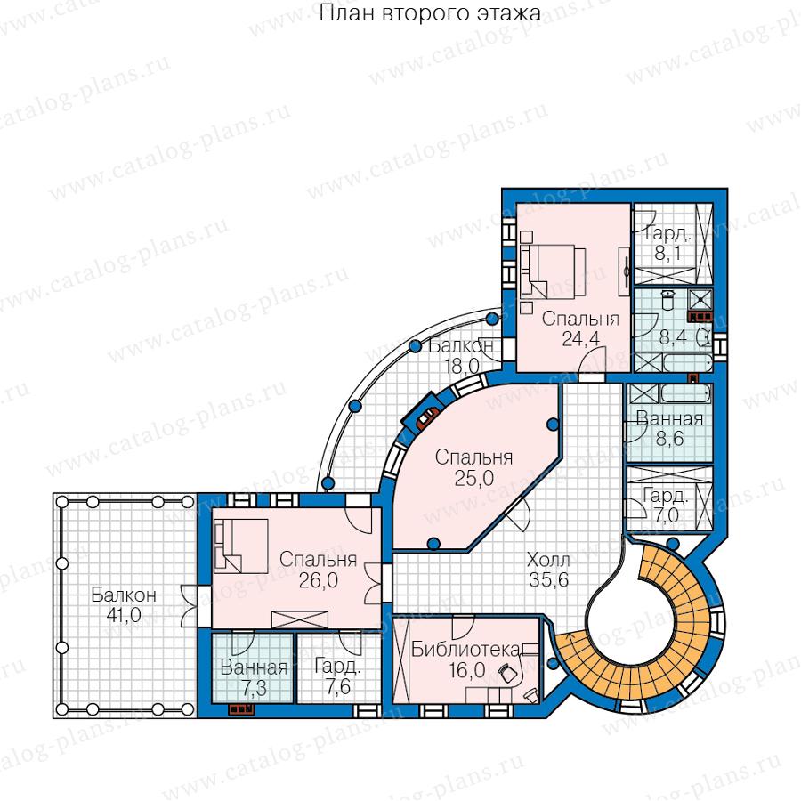 План 2-этажа проекта 45-34