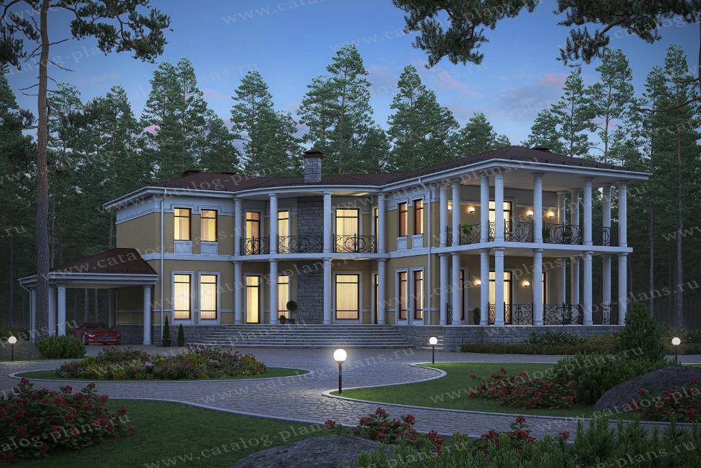 Проект жилой дом #45-34 материал - кирпич, стиль