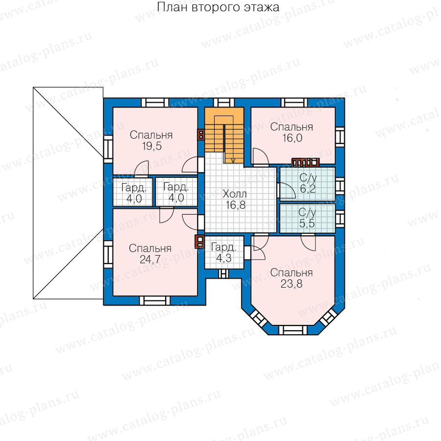 План 2-этажа проекта 40-11Q