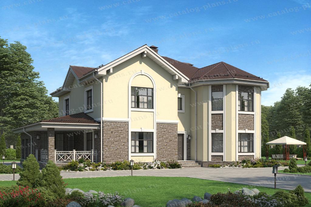 Проект жилой дом #40-11Q материал - газобнтон, стиль