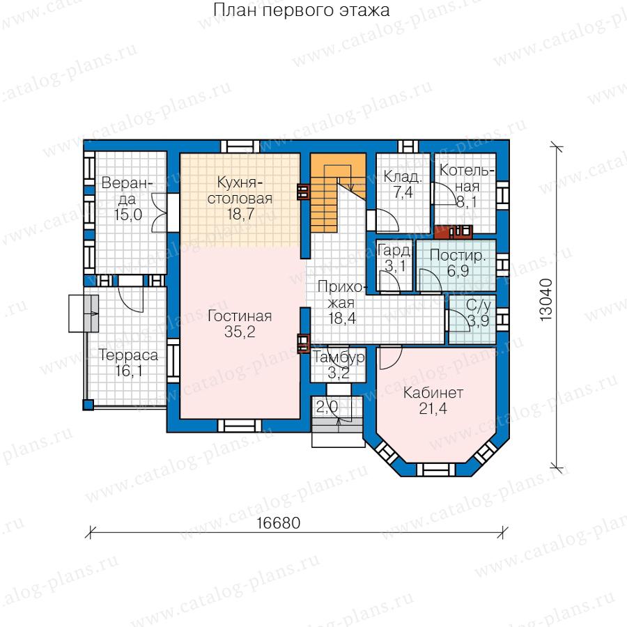 План 1-этажа проекта 40-11Q