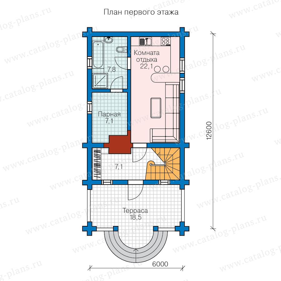 План 1-этажа проекта 13-83