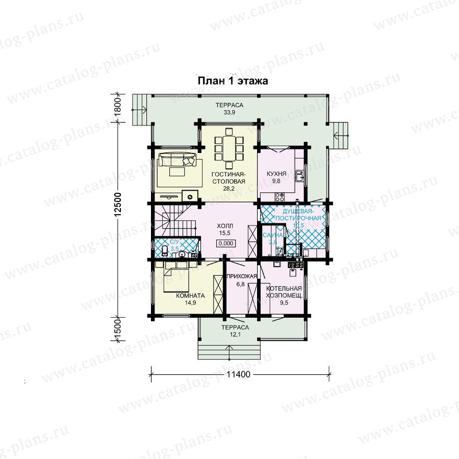 План 1-этажа проекта 13-91