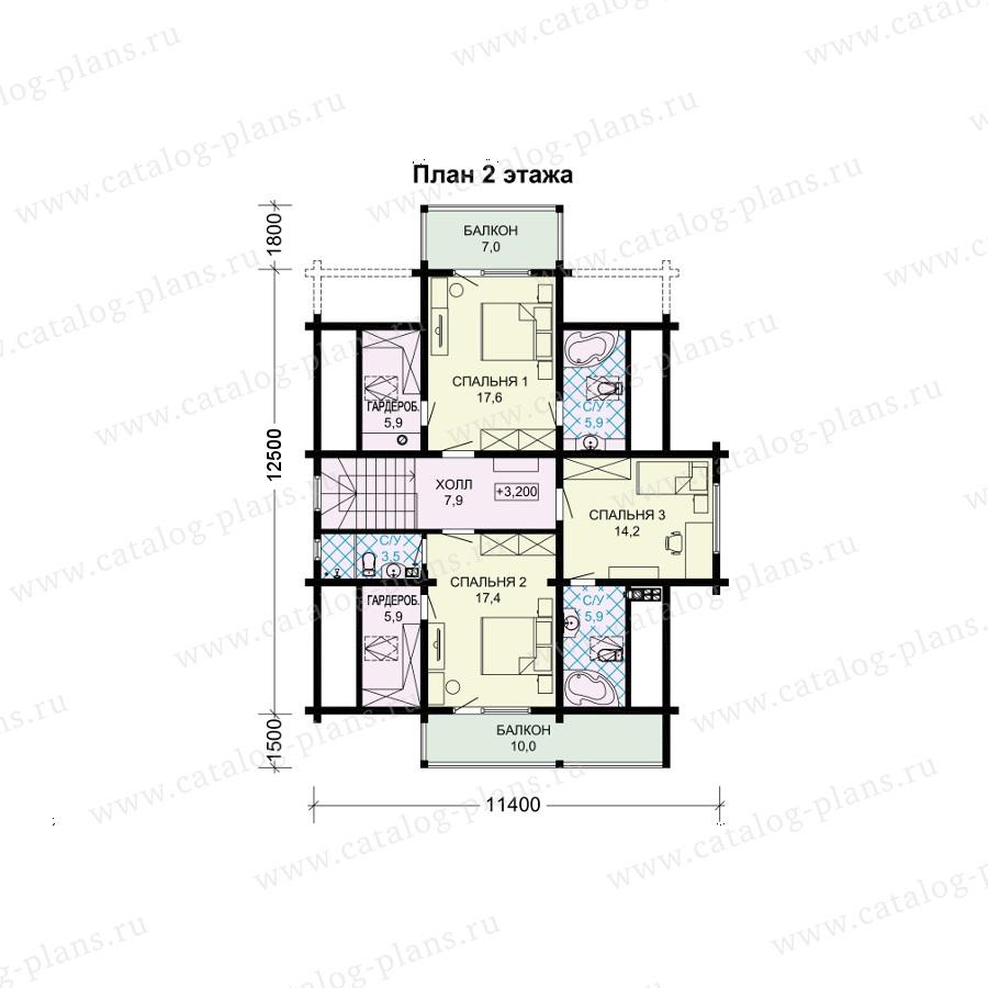 План 2-этажа проекта 13-91