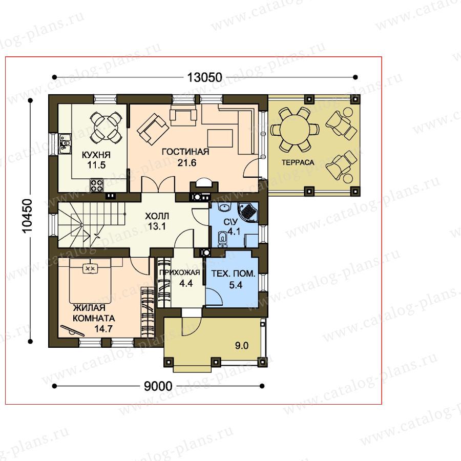 План 1-этажа проекта 59-35D