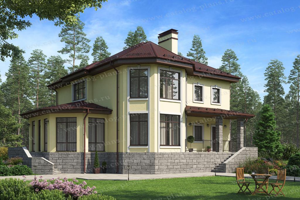 Проект жилой дом #62-09A материал - газобетон, стиль