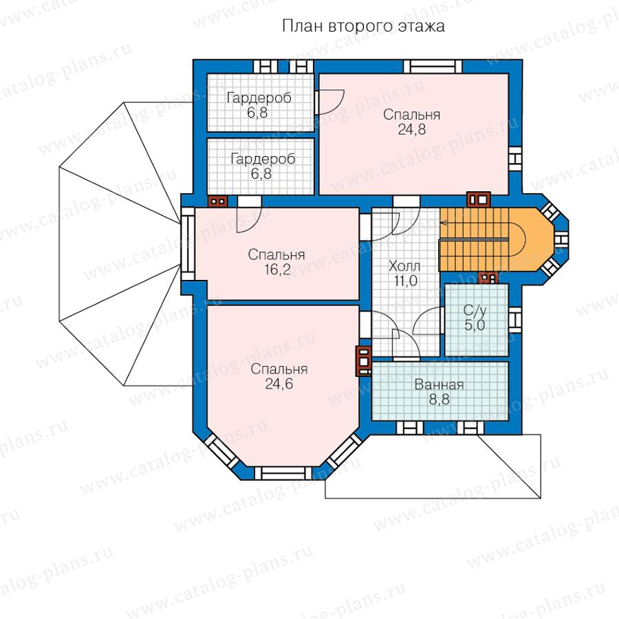 План 2-этажа проекта 62-09A