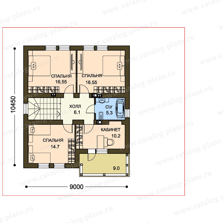 План 2-этажа проекта 59-35D