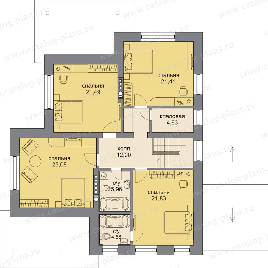 План 2-этажа проекта 47-92L