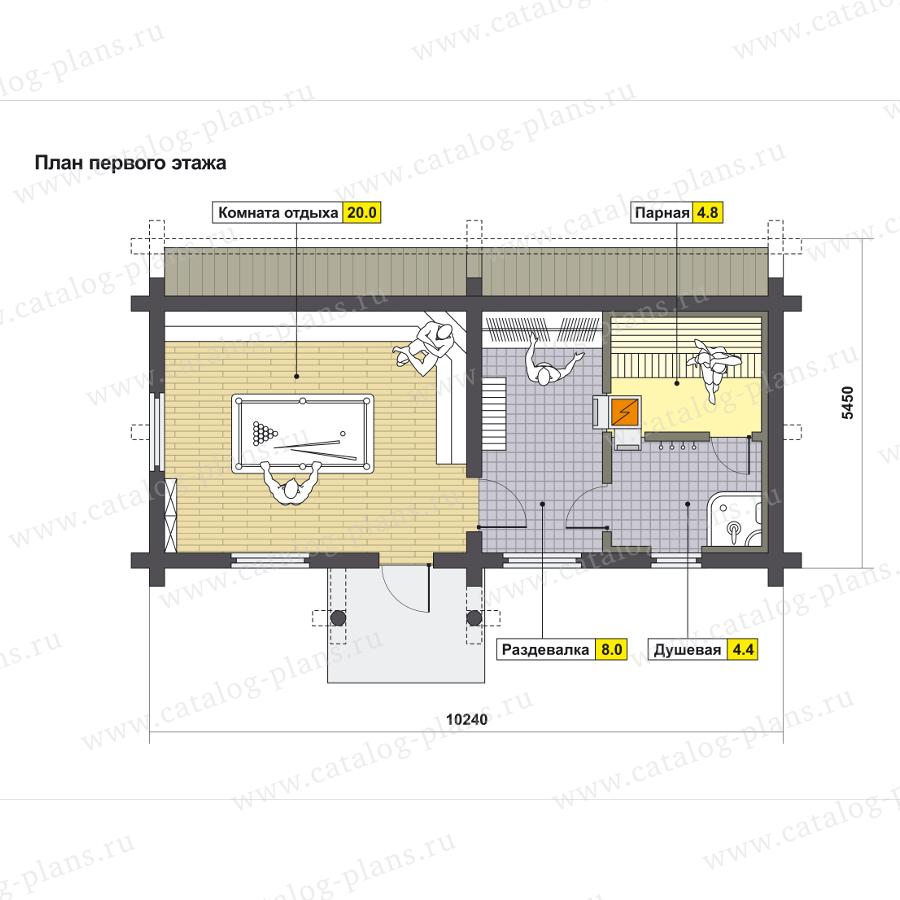 План 1-этажа проекта 13-93