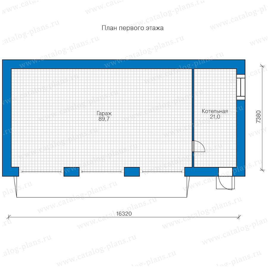 План 1-этажа проекта 45-24