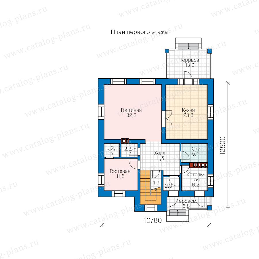 План 1-этажа проекта 57-20ML