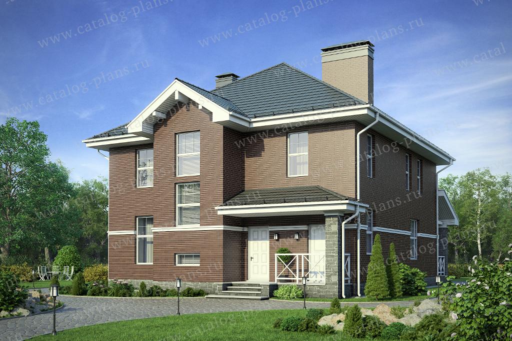 Проект жилой дом #57-20ML материал - газобетон, стиль