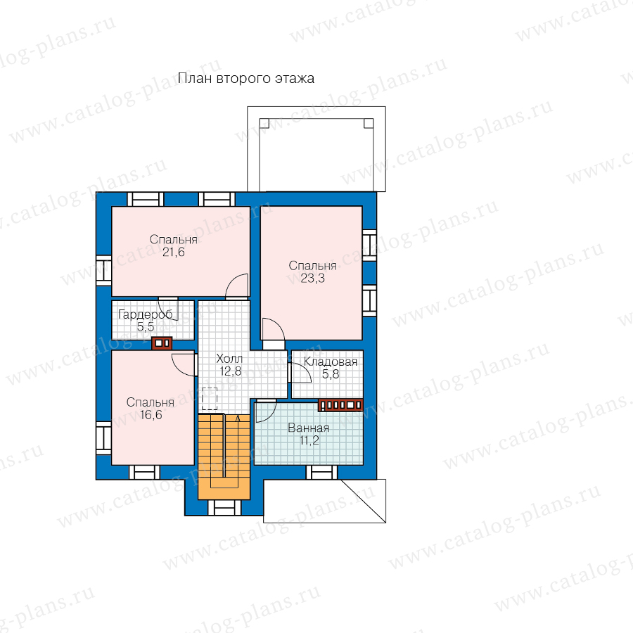 План 2-этажа проекта 57-20ML