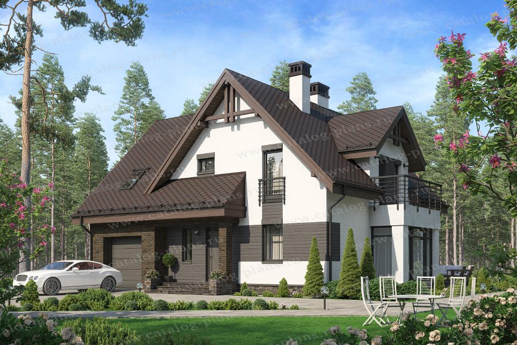 Проект жилой дом #45-31 материал - кирпич, стиль