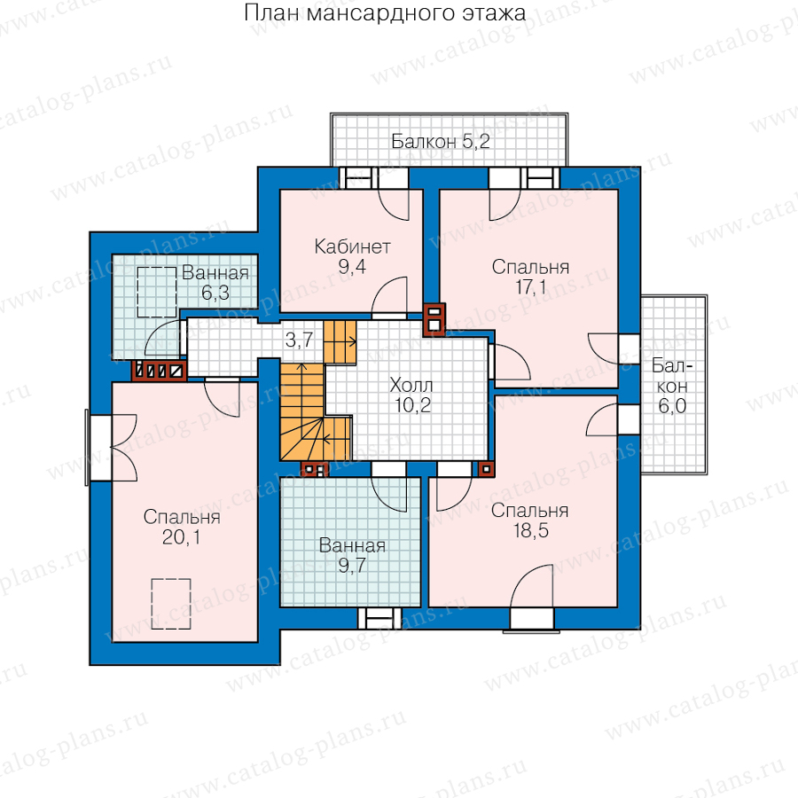 План 2-этажа проекта 45-31