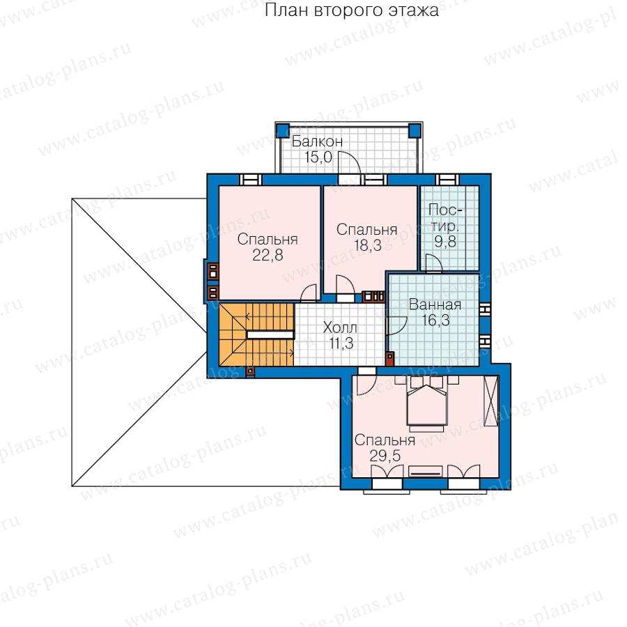 План 2-этажа проекта 45-46