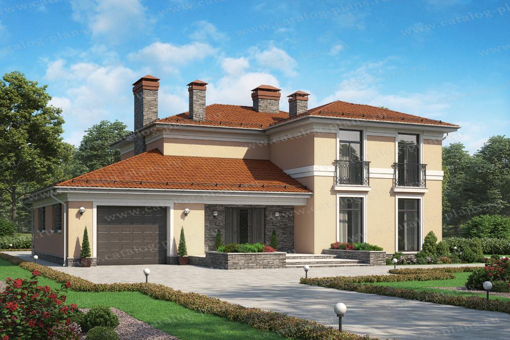 Проект жилой дом #45-46 материал - кирпич, стиль