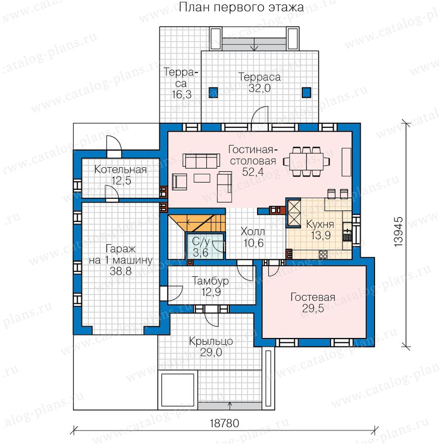 План 1-этажа проекта 45-46