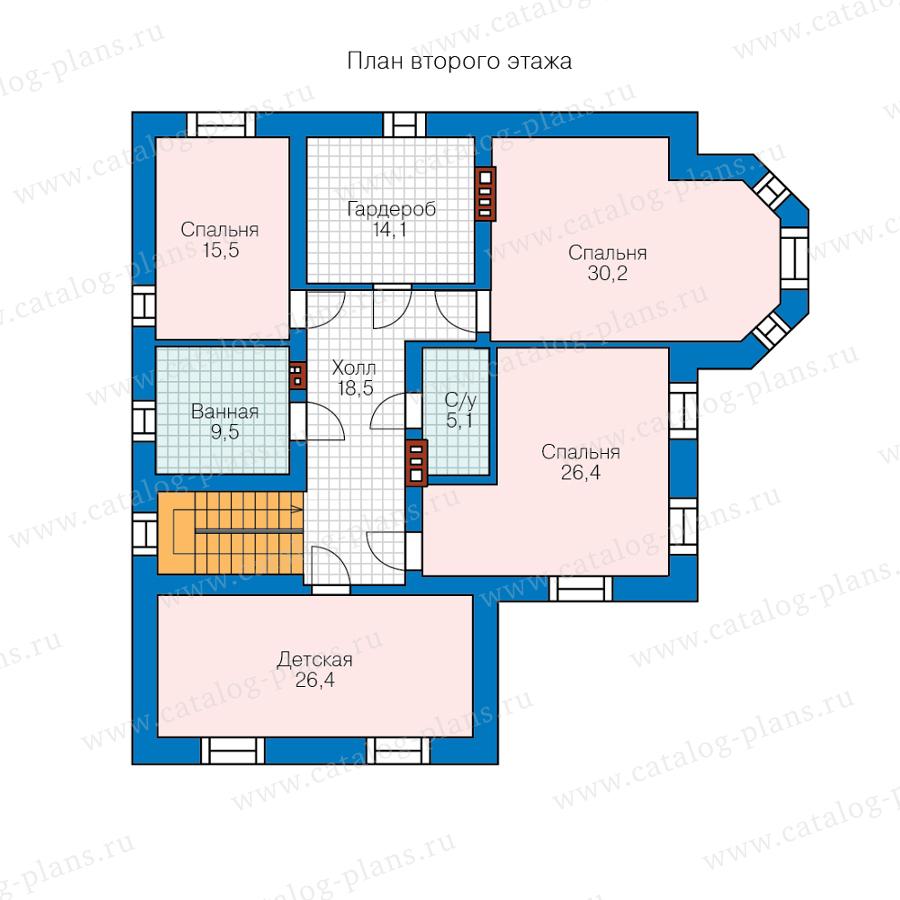 План 2-этажа проекта 57-74МL