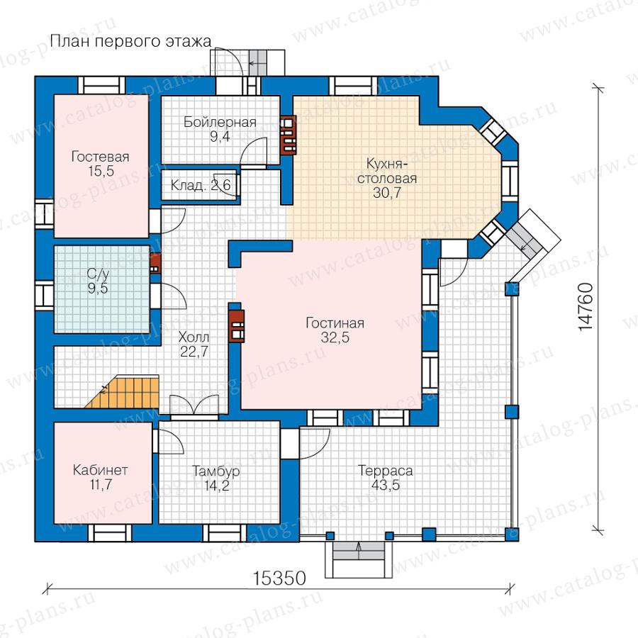 План 1-этажа проекта 57-74МL