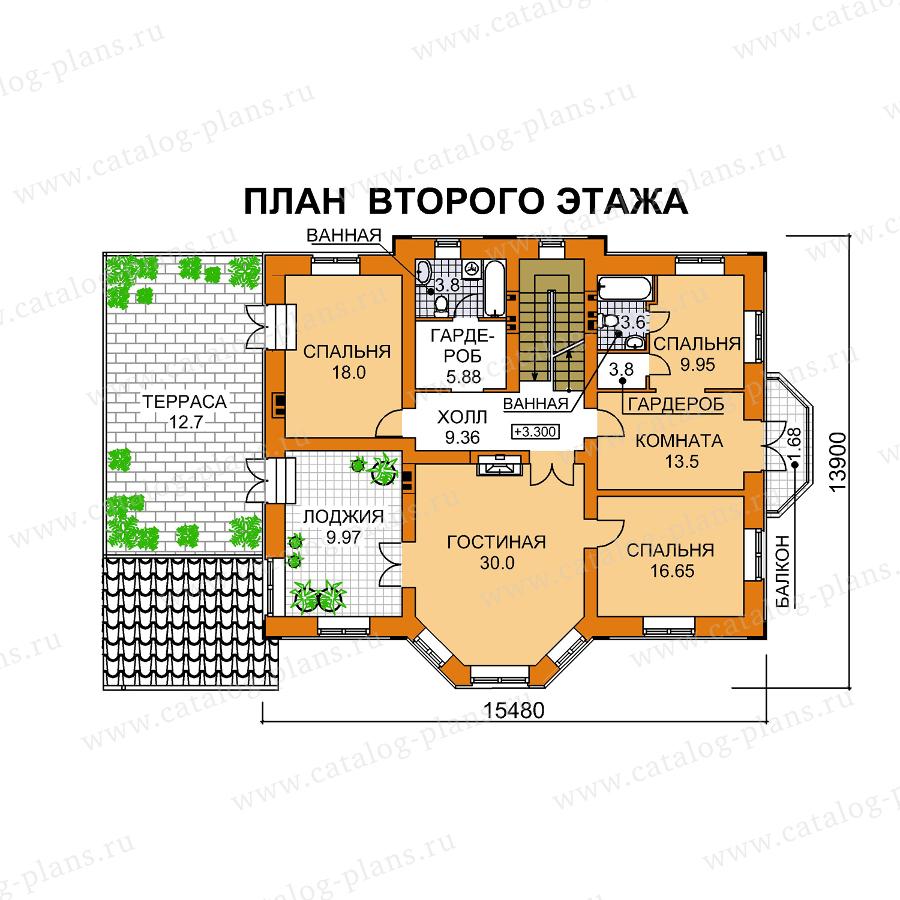 План 2-этажа проекта 61-32
