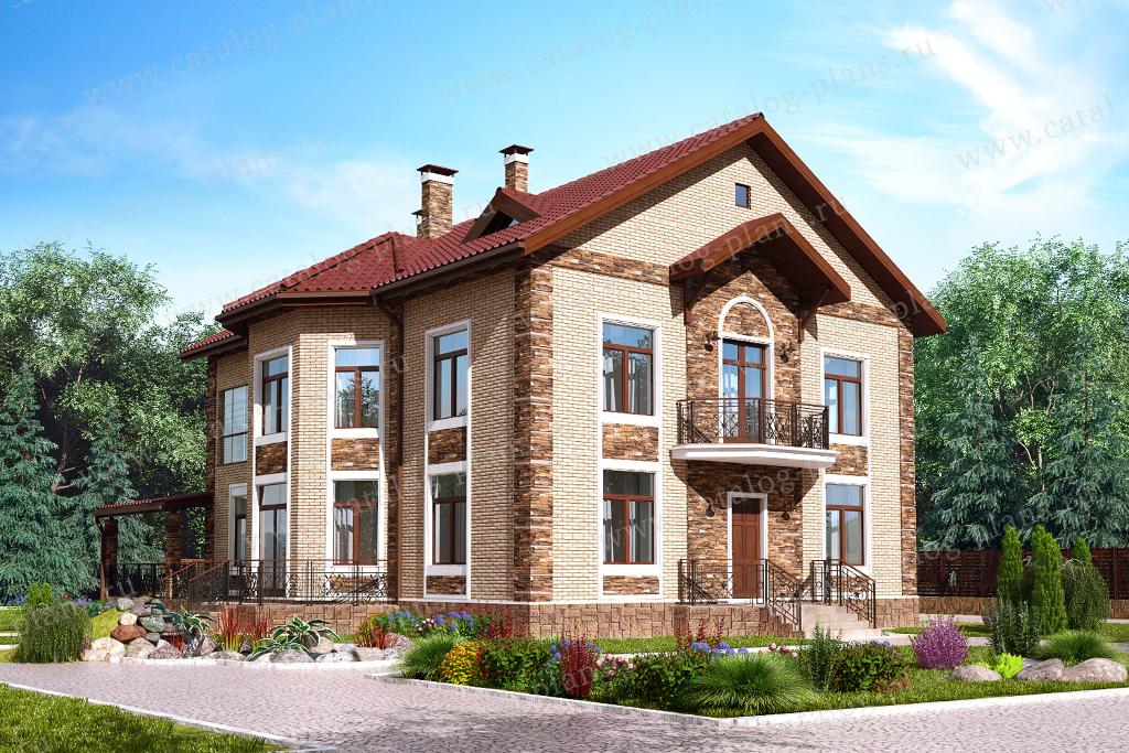 Проект жилой дом #61-32 материал - газобетон, стиль