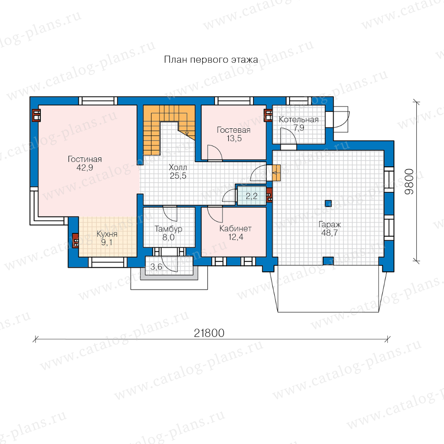 План 1-этажа проекта 40-86DL