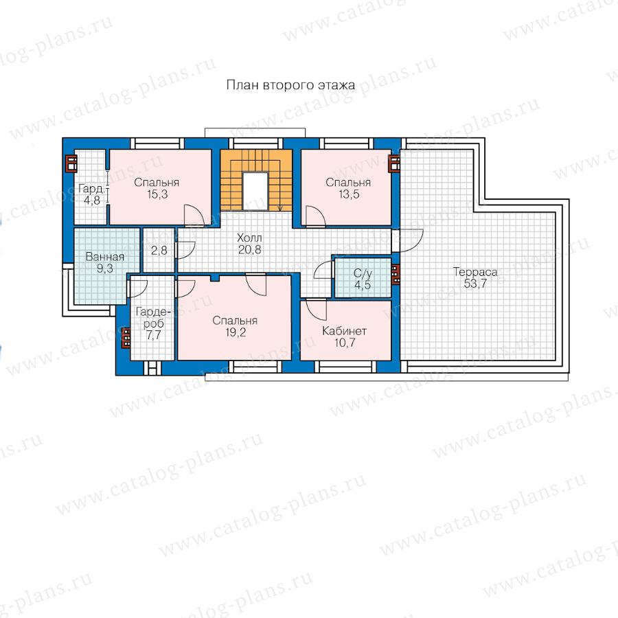 План 2-этажа проекта 40-86DL