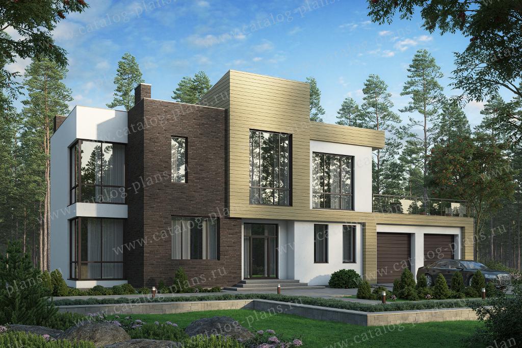 Проект жилой дом #40-86DL материал - кирпич, стиль
