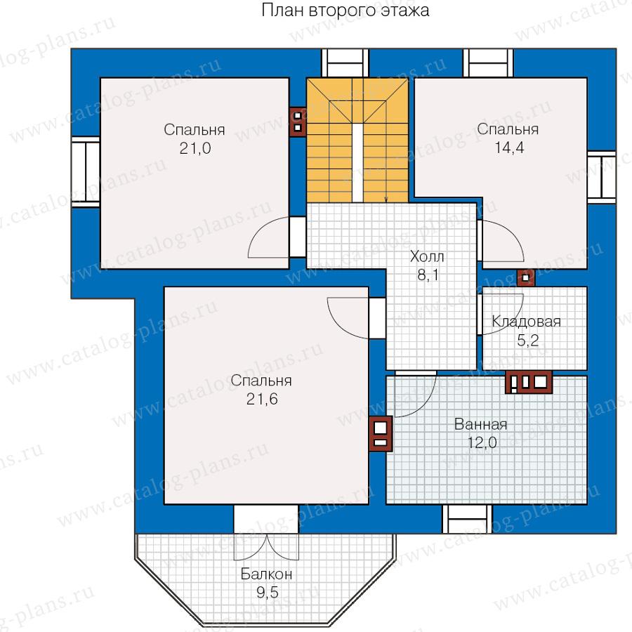 План 2-этажа проекта 40-05L