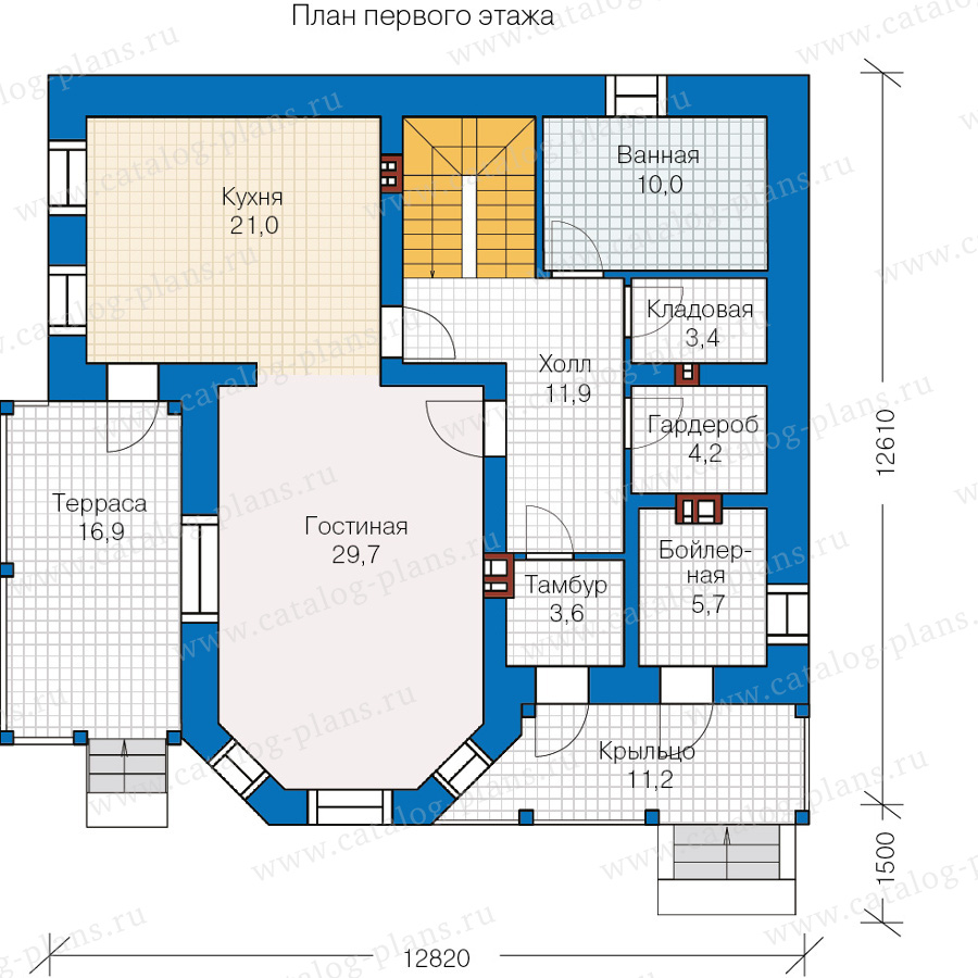 План 1-этажа проекта 40-05L