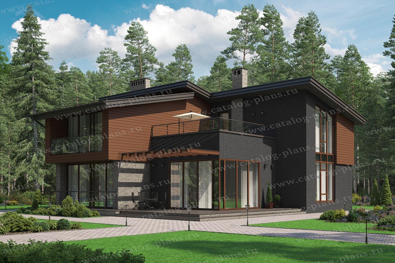 Проект жилой дом #62-50 материал - газобетон, стиль