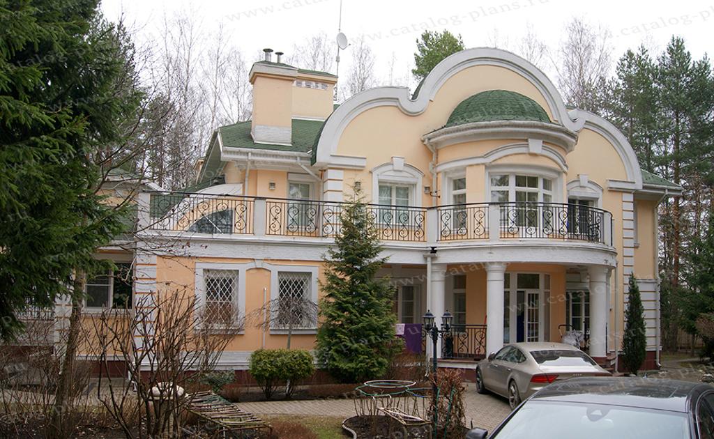 Проект жилой дом #34-10 материал - кирпич, стиль рококо