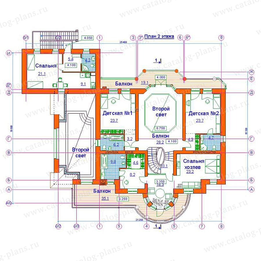 План 2-этажа проекта 34-10
