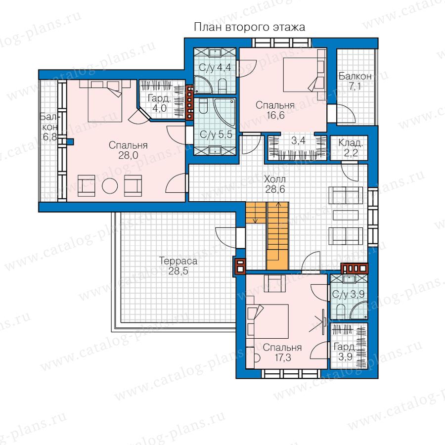 План 2-этажа проекта 62-50