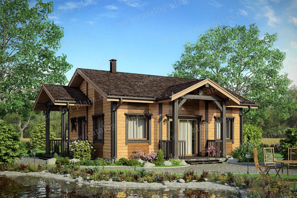 Проект жилой дом #70-61 материал - каркас, стиль скандинавский
