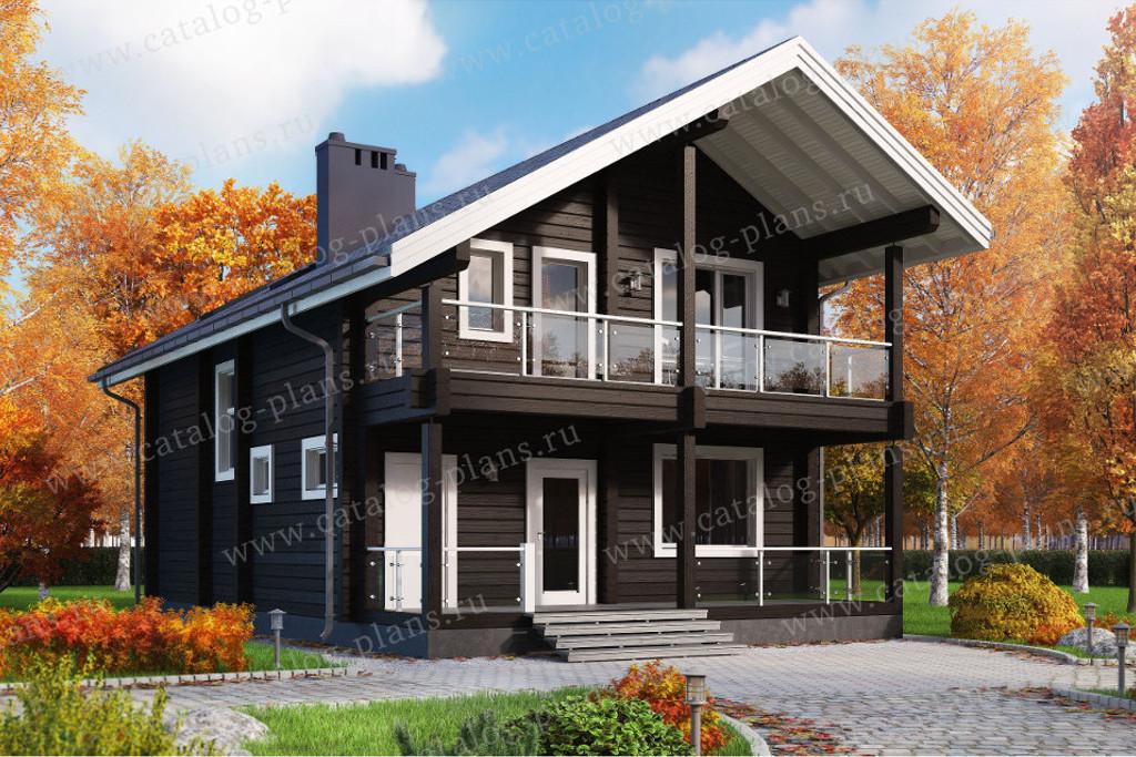 Проект жилой дом #13-34A материал - Дерево, стиль