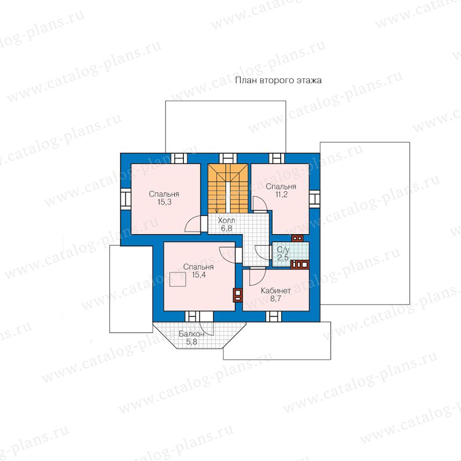План 2-этажа проекта 40-05HGL