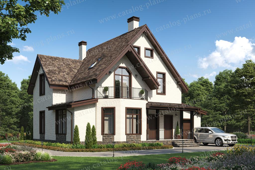 Проект жилой дом #40-05HGL материал - газобетон, стиль