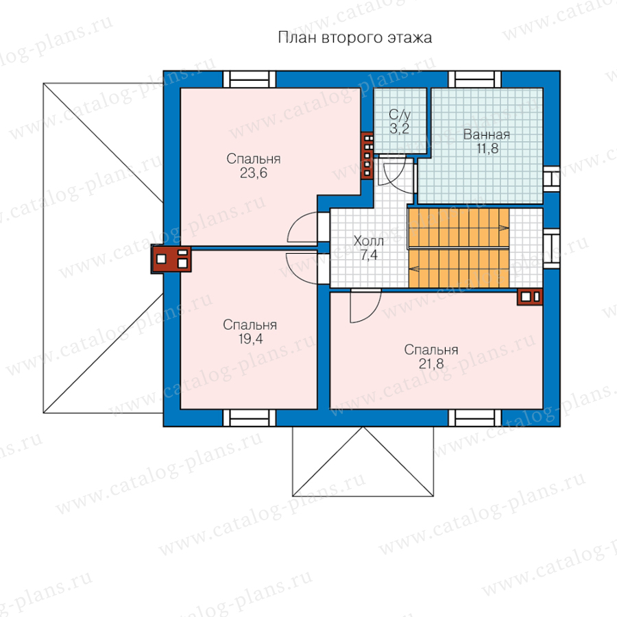 План 2-этажа проекта 45-58