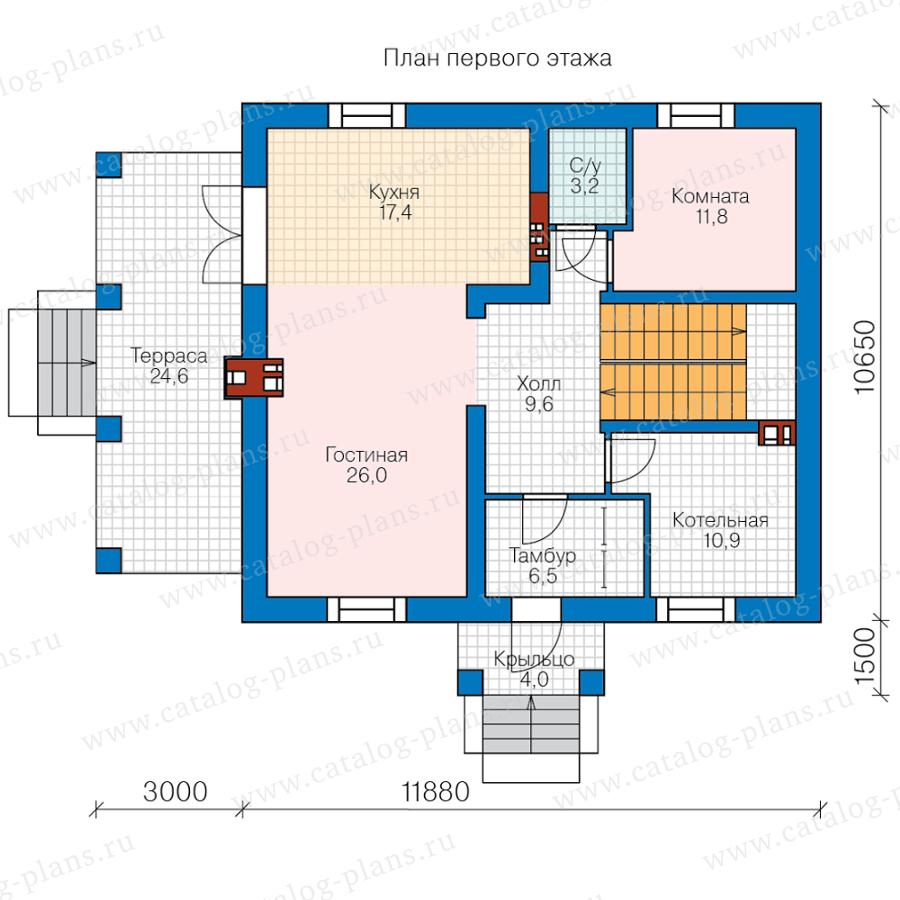 План 1-этажа проекта 45-58