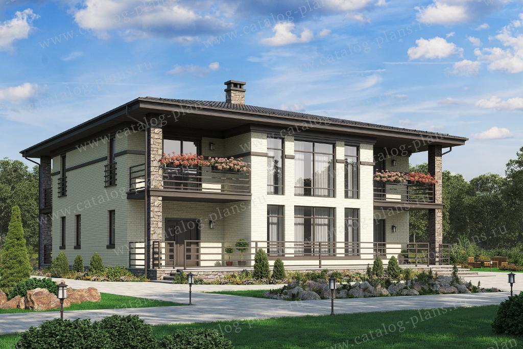 Проект жилой дом #40-39AGL материал - газобетон, стиль