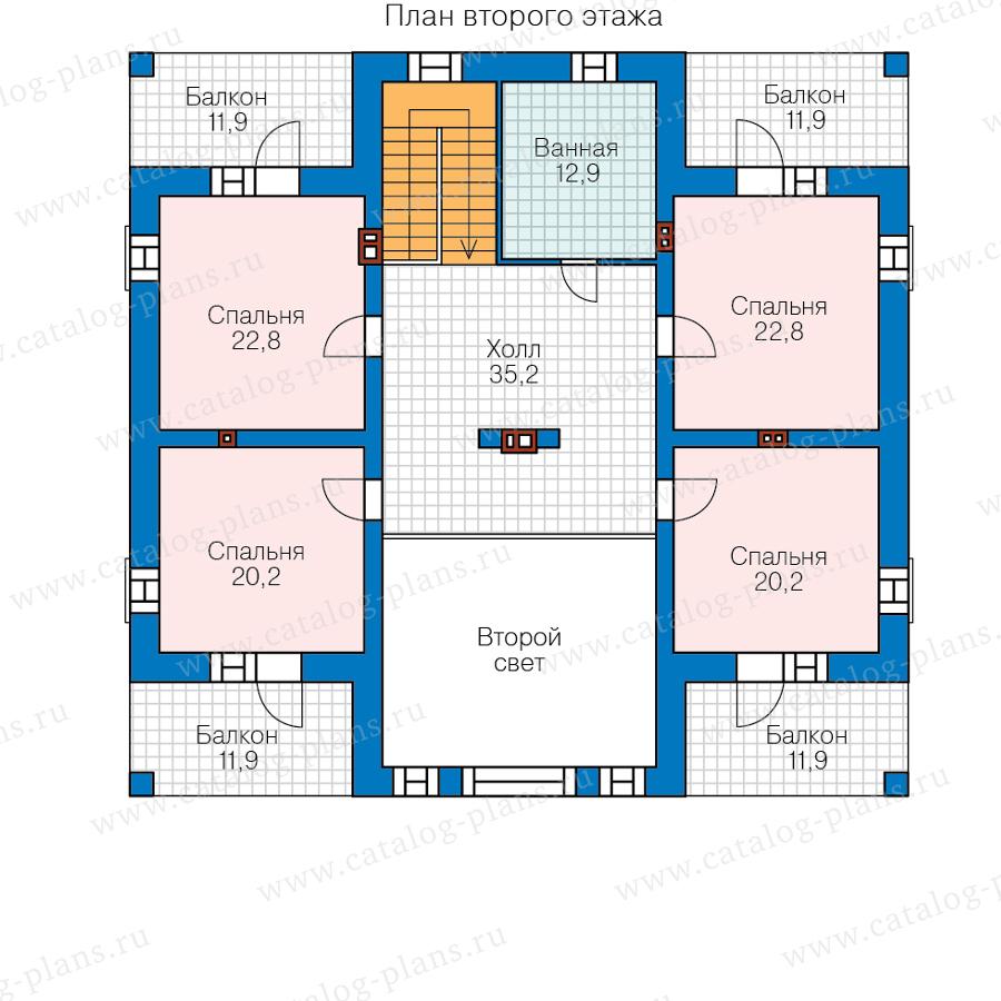 План 2-этажа проекта 40-39AGL