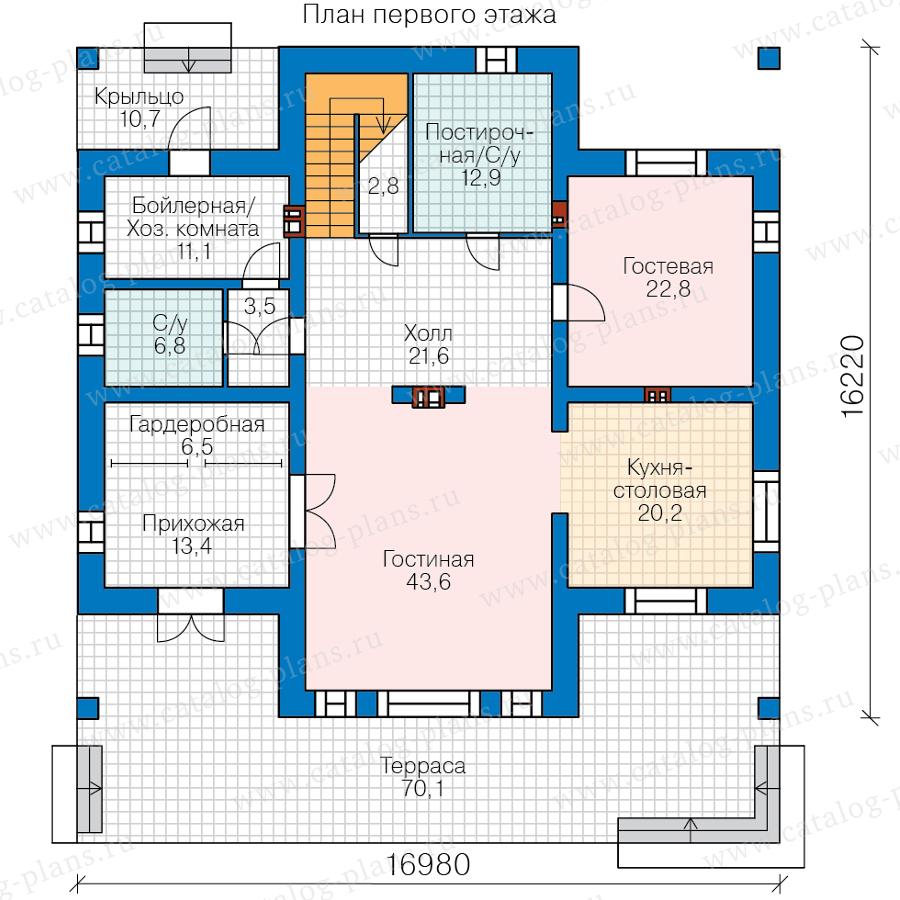 План 1-этажа проекта 40-39AGL