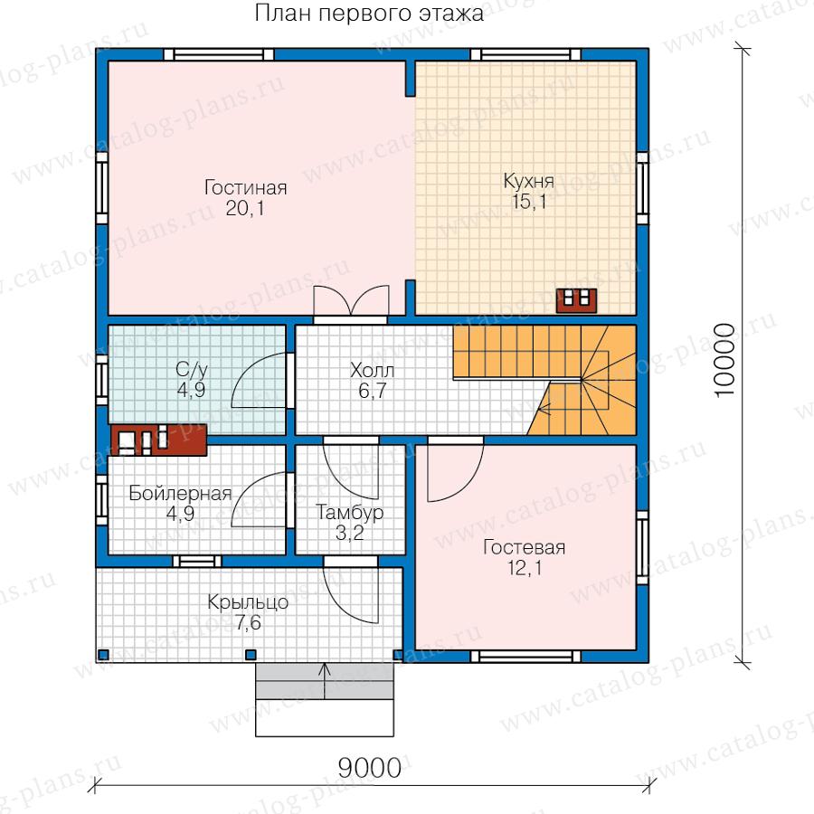 План 1-этажа проекта 13-94