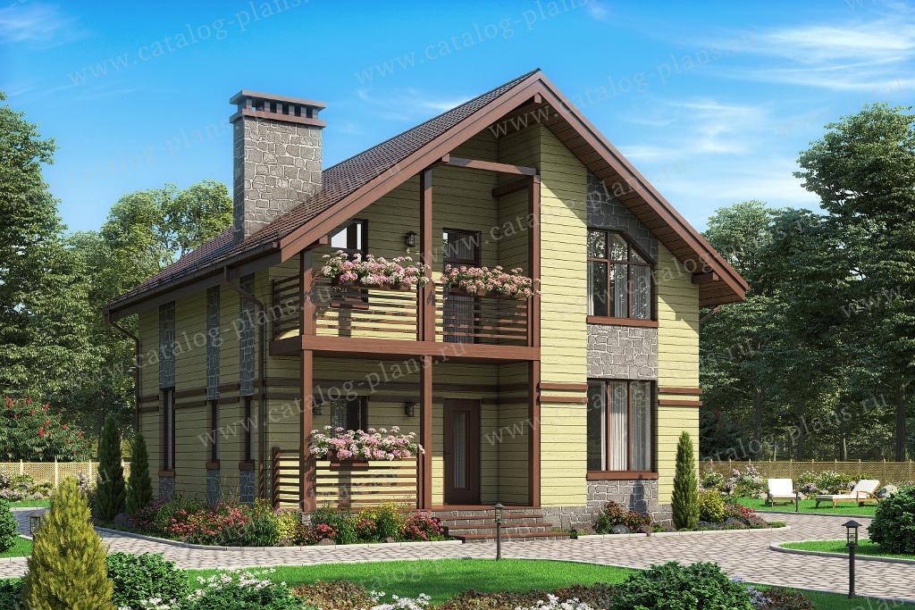 Проект жилой дом #13-94 материал - дерево, стиль