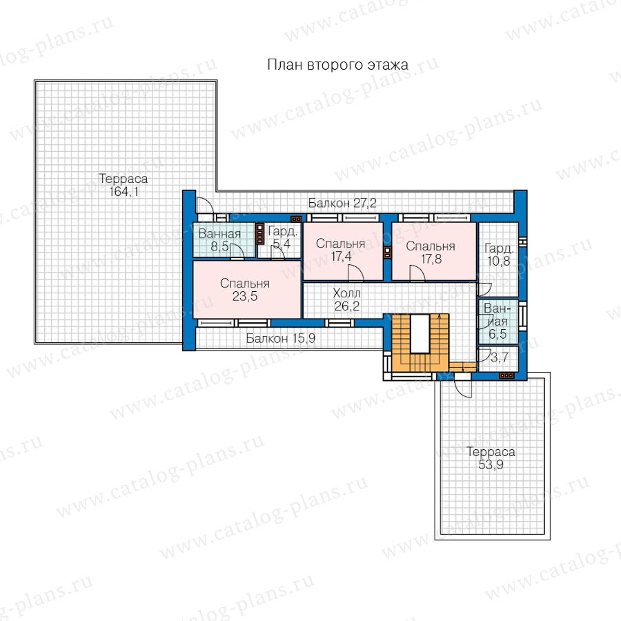 План 2-этажа проекта 40-84BL