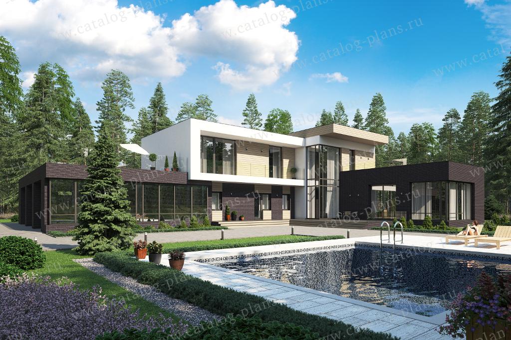 Проект жилой дом #40-84BL материал - кирпич, стиль