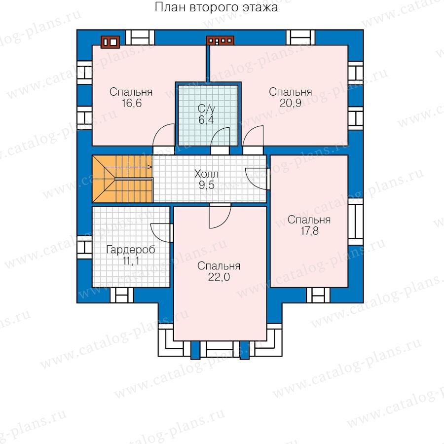 План 2-этажа проекта 58-87FKL